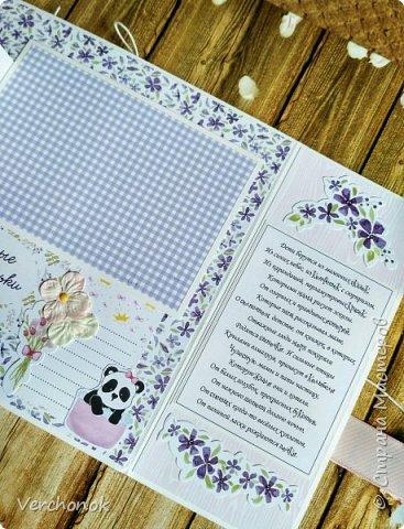 Альбом для маленькой принцессы с весёлыми пандочками. фото 9