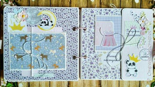 Альбом для маленькой принцессы с весёлыми пандочками. фото 6