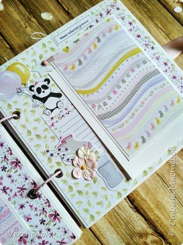Альбом для маленькой принцессы с весёлыми пандочками. фото 12