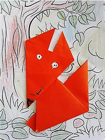 Работы второклассников. Схема http://kindergeburtstag-themen.de/origami-fuchs-falten/ фото 4