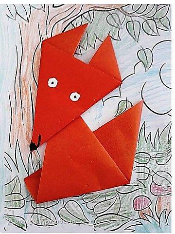 Работы второклассников. Схема http://kindergeburtstag-themen.de/origami-fuchs-falten/ фото 5