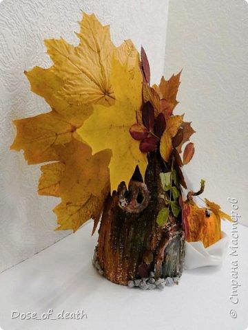 Пришла осень, а с ней и время поделок в садик. Вот и у нас с доченькой родилось такое осеннее дерево.  фото 5