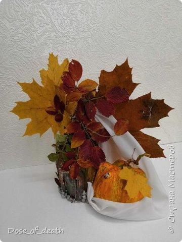 Пришла осень, а с ней и время поделок в садик. Вот и у нас с доченькой родилось такое осеннее дерево.  фото 6