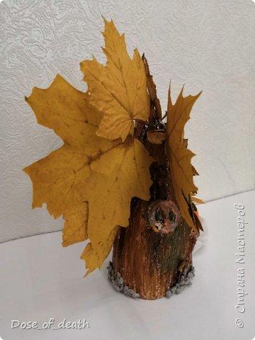 Пришла осень, а с ней и время поделок в садик. Вот и у нас с доченькой родилось такое осеннее дерево.  фото 7