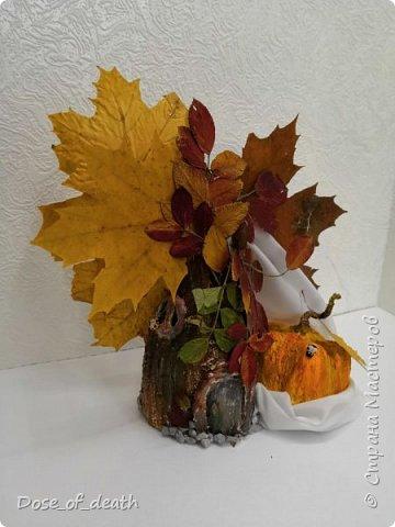 Пришла осень, а с ней и время поделок в садик. Вот и у нас с доченькой родилось такое осеннее дерево.  фото 8