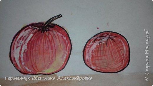 "Детские рисунки  ребят  4""А"" класса  .Натюрморт "" Яблоко и помидор""  фото 5"