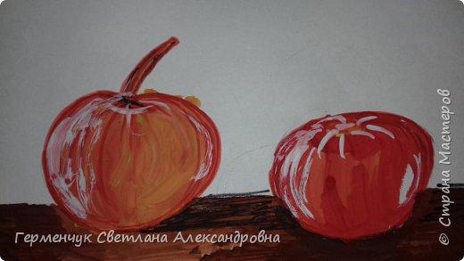 "Детские рисунки  ребят  4""А"" класса  .Натюрморт "" Яблоко и помидор""  фото 6"