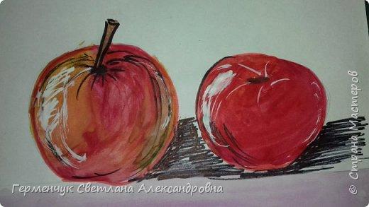 "Детские рисунки  ребят  4""А"" класса  .Натюрморт "" Яблоко и помидор""  фото 7"