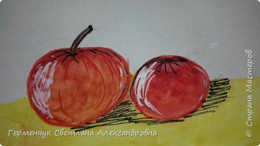 "Детские рисунки  ребят  4""А"" класса  .Натюрморт "" Яблоко и помидор""  фото 8"