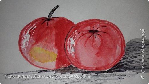 "Детские рисунки  ребят  4""А"" класса  .Натюрморт "" Яблоко и помидор""  фото 9"