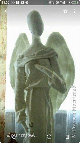 Ангел из ткани в технике грунтованный текстиль . фото 2