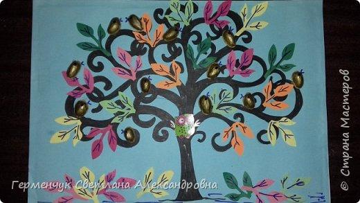 """Добрый день, жители СМ !!! Пока у нас стоит жара , а по календарю осень, мы с ребятами  """"посадили"""" чудо- деревья  с  фисташковыми птичками. Предлагаю вашему вниманию   аллею  с чудо- деревьями. фото 14"""