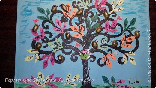 """Добрый день, жители СМ !!! Пока у нас стоит жара , а по календарю осень, мы с ребятами  """"посадили"""" чудо- деревья  с  фисташковыми птичками. Предлагаю вашему вниманию   аллею  с чудо- деревьями. фото 29"""