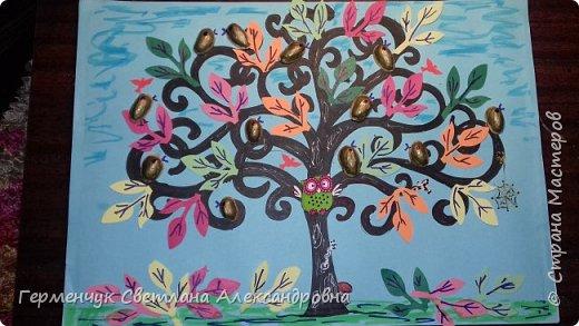 """Добрый день, жители СМ !!! Пока у нас стоит жара , а по календарю осень, мы с ребятами  """"посадили"""" чудо- деревья  с  фисташковыми птичками. Предлагаю вашему вниманию   аллею  с чудо- деревьями. фото 1"""