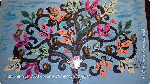 """Добрый день, жители СМ !!! Пока у нас стоит жара , а по календарю осень, мы с ребятами  """"посадили"""" чудо- деревья  с  фисташковыми птичками. Предлагаю вашему вниманию   аллею  с чудо- деревьями. фото 26"""