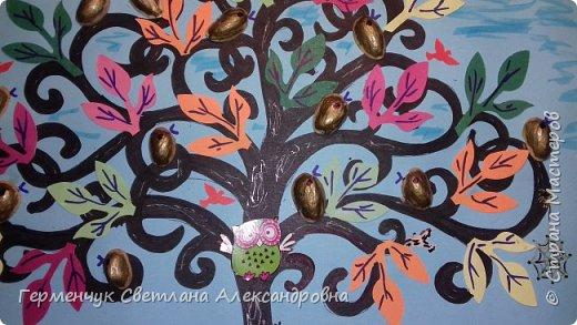 """Добрый день, жители СМ !!! Пока у нас стоит жара , а по календарю осень, мы с ребятами  """"посадили"""" чудо- деревья  с  фисташковыми птичками. Предлагаю вашему вниманию   аллею  с чудо- деревьями. фото 25"""