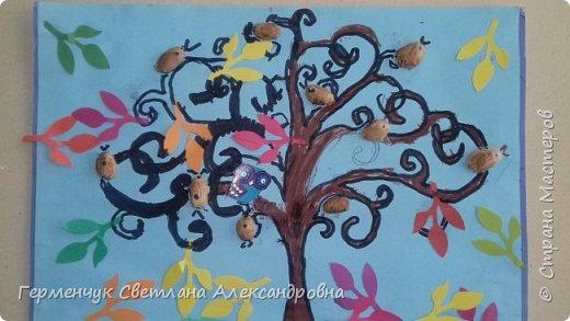 """Добрый день, жители СМ !!! Пока у нас стоит жара , а по календарю осень, мы с ребятами  """"посадили"""" чудо- деревья  с  фисташковыми птичками. Предлагаю вашему вниманию   аллею  с чудо- деревьями. фото 24"""