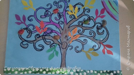 """Добрый день, жители СМ !!! Пока у нас стоит жара , а по календарю осень, мы с ребятами  """"посадили"""" чудо- деревья  с  фисташковыми птичками. Предлагаю вашему вниманию   аллею  с чудо- деревьями. фото 23"""