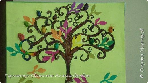 """Добрый день, жители СМ !!! Пока у нас стоит жара , а по календарю осень, мы с ребятами  """"посадили"""" чудо- деревья  с  фисташковыми птичками. Предлагаю вашему вниманию   аллею  с чудо- деревьями. фото 22"""