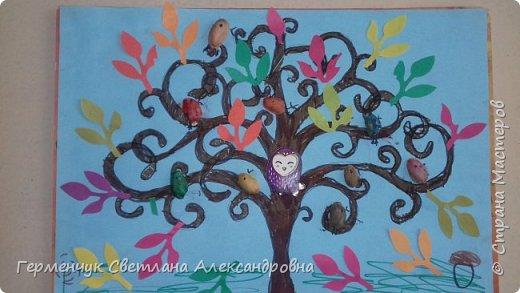 """Добрый день, жители СМ !!! Пока у нас стоит жара , а по календарю осень, мы с ребятами  """"посадили"""" чудо- деревья  с  фисташковыми птичками. Предлагаю вашему вниманию   аллею  с чудо- деревьями. фото 21"""