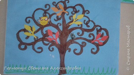 """Добрый день, жители СМ !!! Пока у нас стоит жара , а по календарю осень, мы с ребятами  """"посадили"""" чудо- деревья  с  фисташковыми птичками. Предлагаю вашему вниманию   аллею  с чудо- деревьями. фото 20"""