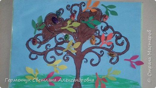 """Добрый день, жители СМ !!! Пока у нас стоит жара , а по календарю осень, мы с ребятами  """"посадили"""" чудо- деревья  с  фисташковыми птичками. Предлагаю вашему вниманию   аллею  с чудо- деревьями. фото 19"""