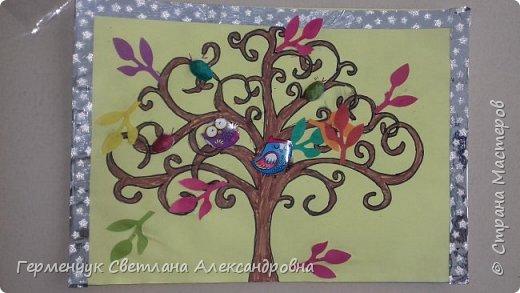 """Добрый день, жители СМ !!! Пока у нас стоит жара , а по календарю осень, мы с ребятами  """"посадили"""" чудо- деревья  с  фисташковыми птичками. Предлагаю вашему вниманию   аллею  с чудо- деревьями. фото 17"""