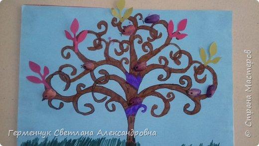 """Добрый день, жители СМ !!! Пока у нас стоит жара , а по календарю осень, мы с ребятами  """"посадили"""" чудо- деревья  с  фисташковыми птичками. Предлагаю вашему вниманию   аллею  с чудо- деревьями. фото 16"""