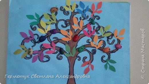 """Добрый день, жители СМ !!! Пока у нас стоит жара , а по календарю осень, мы с ребятами  """"посадили"""" чудо- деревья  с  фисташковыми птичками. Предлагаю вашему вниманию   аллею  с чудо- деревьями. фото 15"""