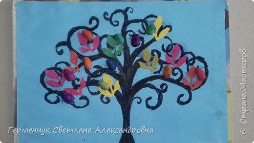 """Добрый день, жители СМ !!! Пока у нас стоит жара , а по календарю осень, мы с ребятами  """"посадили"""" чудо- деревья  с  фисташковыми птичками. Предлагаю вашему вниманию   аллею  с чудо- деревьями. фото 12"""