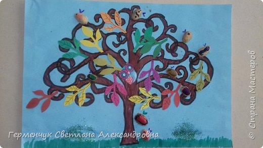 """Добрый день, жители СМ !!! Пока у нас стоит жара , а по календарю осень, мы с ребятами  """"посадили"""" чудо- деревья  с  фисташковыми птичками. Предлагаю вашему вниманию   аллею  с чудо- деревьями. фото 11"""