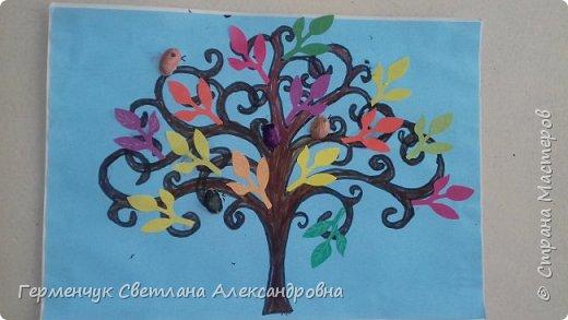 """Добрый день, жители СМ !!! Пока у нас стоит жара , а по календарю осень, мы с ребятами  """"посадили"""" чудо- деревья  с  фисташковыми птичками. Предлагаю вашему вниманию   аллею  с чудо- деревьями. фото 10"""