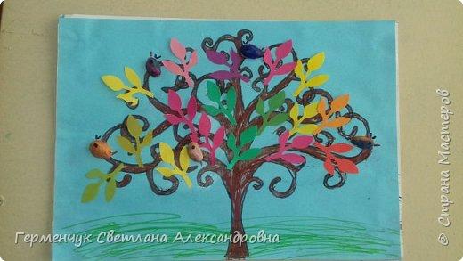 """Добрый день, жители СМ !!! Пока у нас стоит жара , а по календарю осень, мы с ребятами  """"посадили"""" чудо- деревья  с  фисташковыми птичками. Предлагаю вашему вниманию   аллею  с чудо- деревьями. фото 8"""