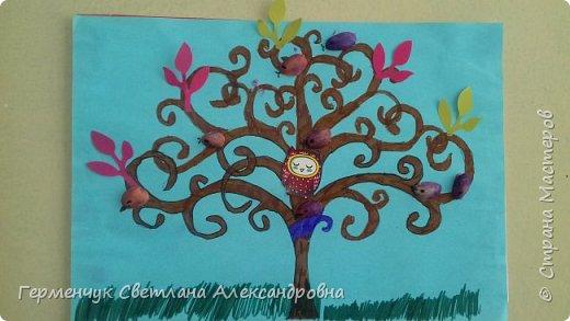 """Добрый день, жители СМ !!! Пока у нас стоит жара , а по календарю осень, мы с ребятами  """"посадили"""" чудо- деревья  с  фисташковыми птичками. Предлагаю вашему вниманию   аллею  с чудо- деревьями. фото 7"""