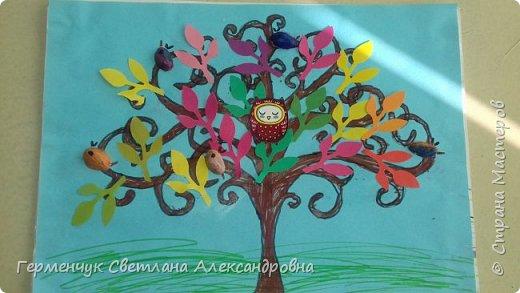 """Добрый день, жители СМ !!! Пока у нас стоит жара , а по календарю осень, мы с ребятами  """"посадили"""" чудо- деревья  с  фисташковыми птичками. Предлагаю вашему вниманию   аллею  с чудо- деревьями. фото 6"""