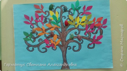 """Добрый день, жители СМ !!! Пока у нас стоит жара , а по календарю осень, мы с ребятами  """"посадили"""" чудо- деревья  с  фисташковыми птичками. Предлагаю вашему вниманию   аллею  с чудо- деревьями. фото 5"""