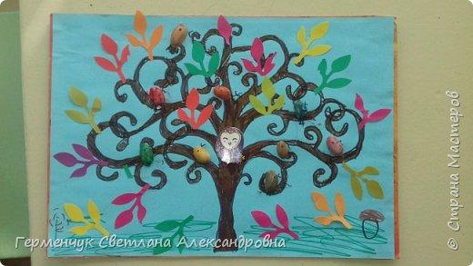 """Добрый день, жители СМ !!! Пока у нас стоит жара , а по календарю осень, мы с ребятами  """"посадили"""" чудо- деревья  с  фисташковыми птичками. Предлагаю вашему вниманию   аллею  с чудо- деревьями. фото 4"""