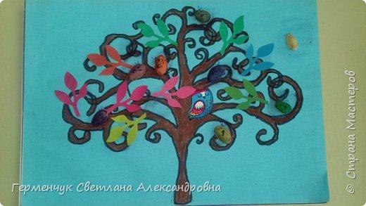 """Добрый день, жители СМ !!! Пока у нас стоит жара , а по календарю осень, мы с ребятами  """"посадили"""" чудо- деревья  с  фисташковыми птичками. Предлагаю вашему вниманию   аллею  с чудо- деревьями. фото 3"""