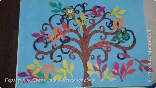 """Добрый день, жители СМ !!! Пока у нас стоит жара , а по календарю осень, мы с ребятами  """"посадили"""" чудо- деревья  с  фисташковыми птичками. Предлагаю вашему вниманию   аллею  с чудо- деревьями. фото 2"""