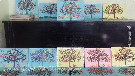 """Добрый день, жители СМ !!! Пока у нас стоит жара , а по календарю осень, мы с ребятами  """"посадили"""" чудо- деревья  с  фисташковыми птичками. Предлагаю вашему вниманию   аллею  с чудо- деревьями. фото 39"""