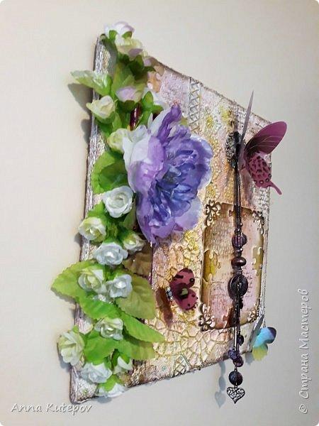 """""""Мир бабочек"""" панно. 30 см х 30 см. фото 2"""