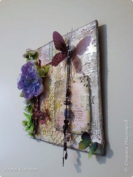 """""""Мир бабочек"""" панно. 30 см х 30 см. фото 3"""