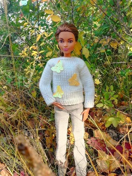 Накопились у меня тут фото ))) Это Миранда в новом платье свитере . Гуляли на озере . фото 26