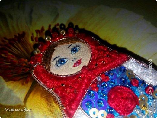 Матрёшка Розочка рада знакомству с вами! Яркая весёлая девчушка на прогулке ;) фото 7