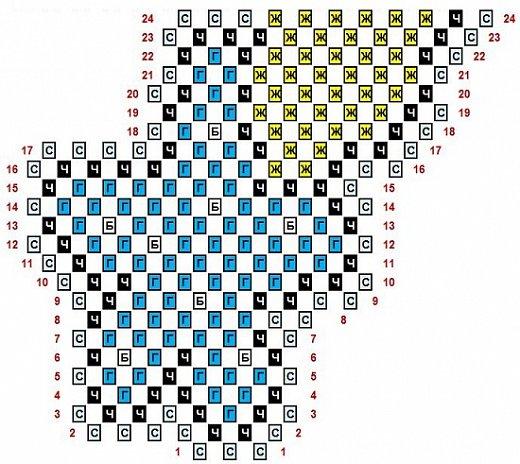 """Использована схема для вышивки крестом с сайта Pinterest (girafa na lua) - VAL PX 27/07/2016 Жирафик на Луне.  Внимание! Не у всех получается сделать ровной готовую работу в технике """"наискосок"""". Иногда поделка немного косит. Не могу объяснить почему так получается. Я стараюсь каждый ряд модулей сажать как можно ровнее, обязательно склеиваю модули, чтобы они не шатались и не искривляли работу, не спешу, даю клею немного подсохнуть, разворачиваю поделку, чтобы посмотреть, как сложены ряды. Но даже при всём этом, даже у меня не всегда получается ровно. Лучше начинать эту технику с небольших работ и набраться немного опыта. Ведь даже в обычной технике получаются разные по качеству поделки. А я просто показываю свои работы и рисую схемы. Спасибо за понимание! фото 4"""
