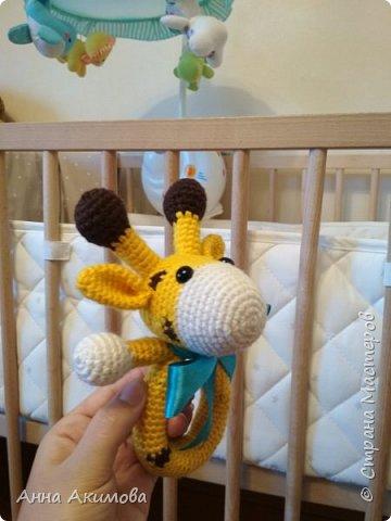 Амигуруми игрушка - погремушка Желток  фото 3