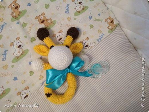 Амигуруми игрушка - погремушка Желток  фото 4
