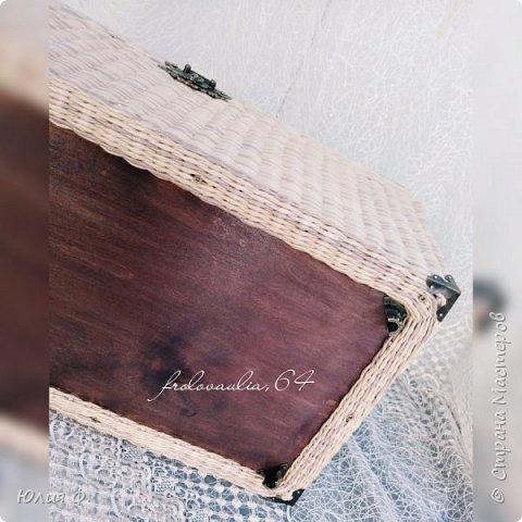 Сундук плетёный из бумажных трубочек фото 4