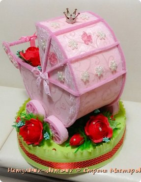 наконец розовая колясочка с памперсами и соской фото 5
