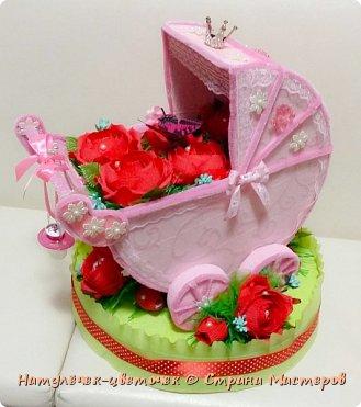 наконец розовая колясочка с памперсами и соской фото 4